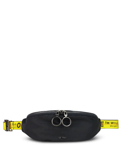 Off-White Men's Giulio Fashion Black Basic Belt Bag OMNA074E19E480021000