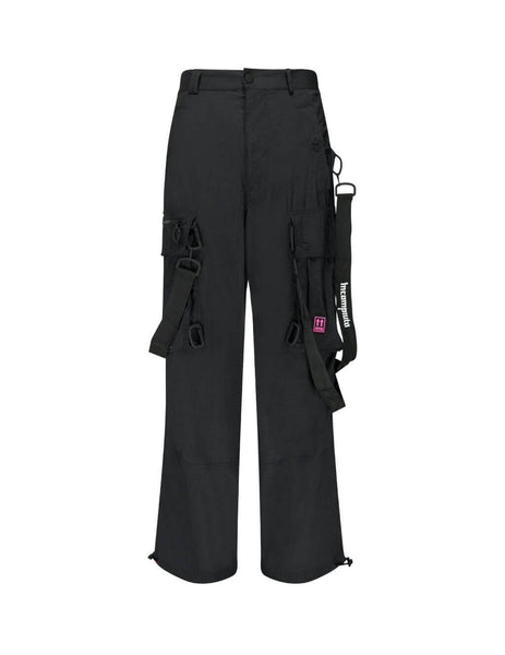 Off-White Men's Black Nylon Bondage Cargo Pants OMCF009E19E150221001