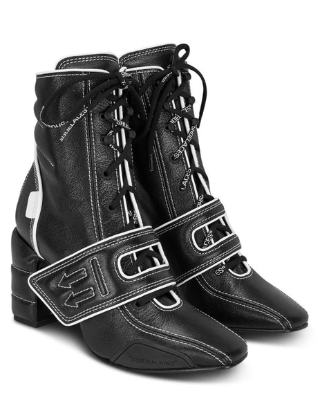 Off-White Women's Giulio Fashion Black Bowling Boots OWIA184F19G080501000