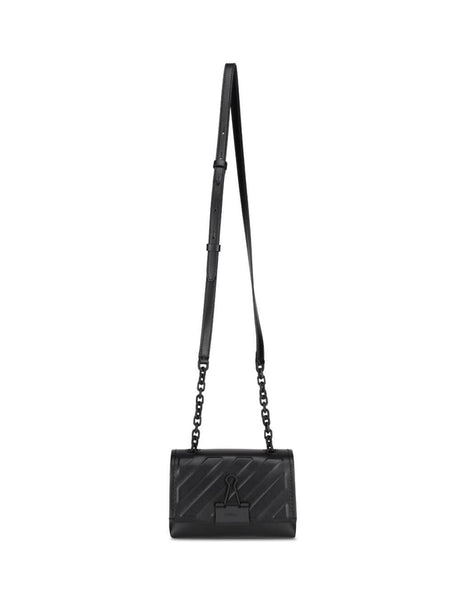 Women's Black Leather Off-White Diag Embossed Bag OWNA121E20LEA0061000