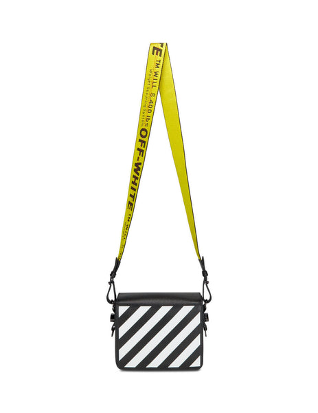 Off-White Women's Black and White Diag Flap Bag OWNA011R204230691001