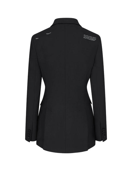 Women's Off-White Fitted Jacket in Black. OWEF049E20FAB0031000