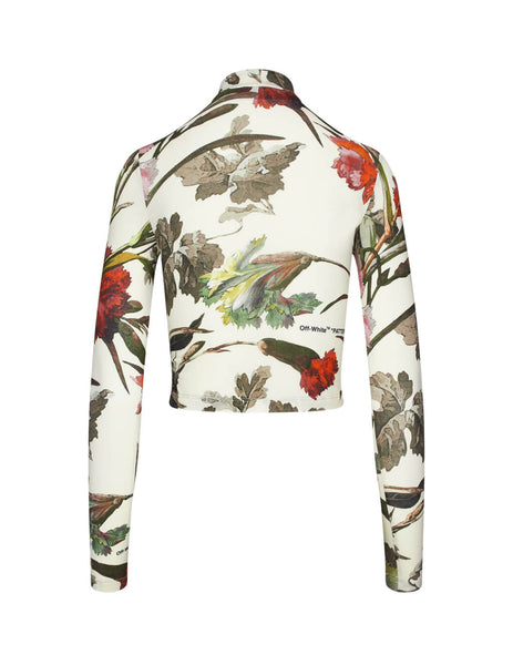 Off-White Women's Off White Floral Crop Top OWAB016E19F310850299