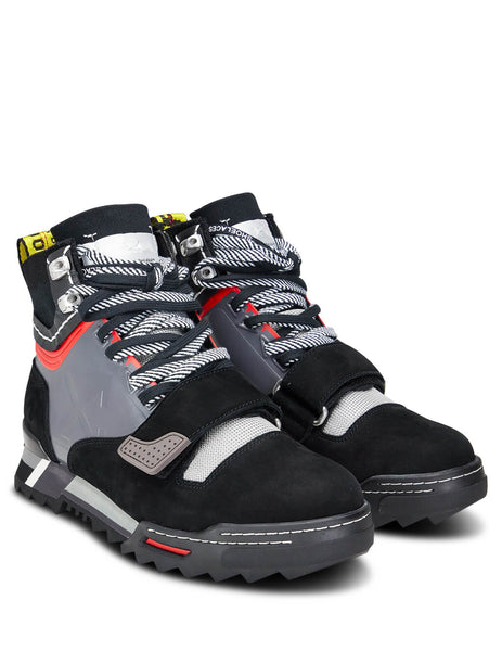 Off-White Men's Giulio Fashion Black Hiking Sneaker Boot OMIA138F198000381008