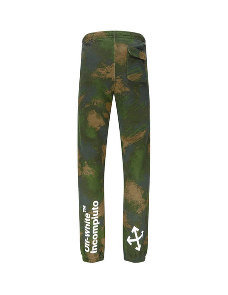 Off-White Men's Giulio Fashion Green Incompiuto Sweatpants OMCH020E19E300189901