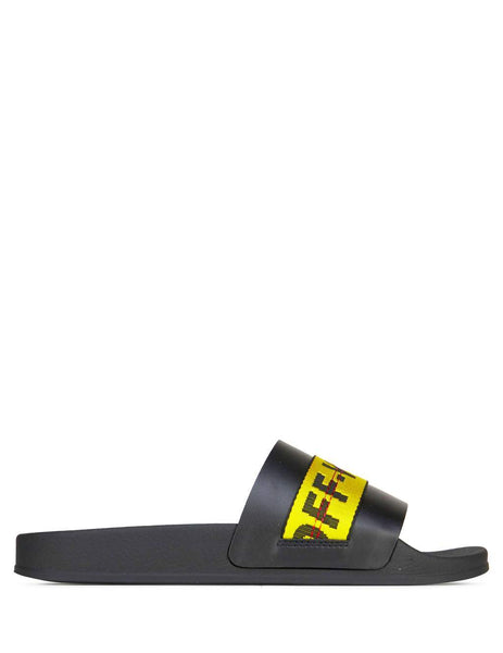 Off-White Men's Giulio Fashion Black Industrial Sliders OMIA088E19C220521060