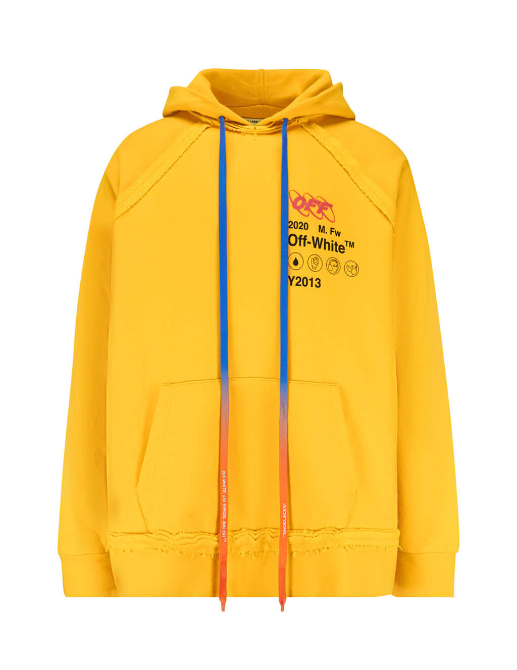 Off-White Men's Giulio Fashion Yellow Industrial Y2013 Hoodie OMBB057F19E300166010
