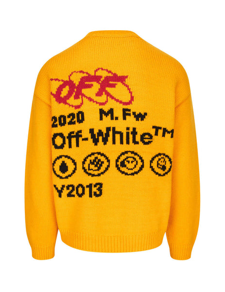 Off-White Men's Giulio Fashion Yellow Industrial Y2013 Knit OMHE032F19E370166010