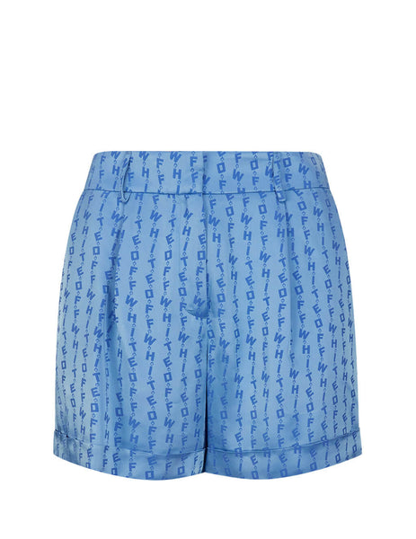 Off-White Women's Giulio Fashion Blue Logo Shorts OWCB027R20C860683100