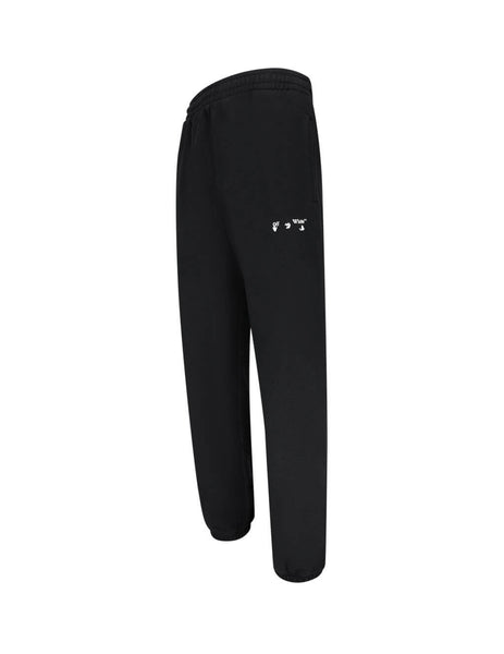 Off-White Men's Giulio Fashion Black Logo Slim Sweatpants OMCH029E20FLE0011001