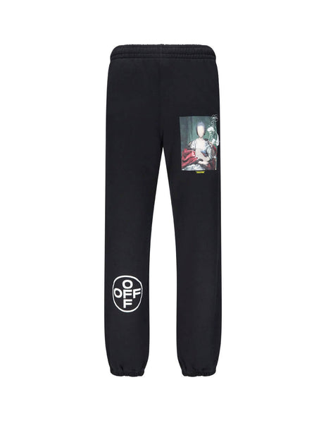 Off-White Men's Giulio Fashion Black Mariana De Silva Slim Sweatpants OMCH020E19E300051088