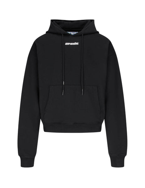 Off-White Men's Giulio Fashion Black Marker Oversized Hoodie OMBB037E20FLE0021025