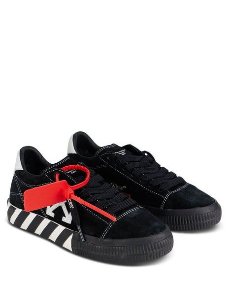 Women's Off-White New Arrow Low Vulcanized Sneakers in Black and White OWIA216E20LEA0011001