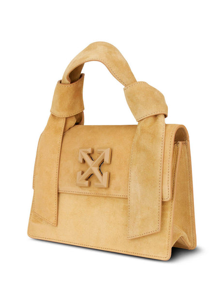 Women's Beige Off-White New Jitney 1.4 Bag OWNA115E20LEA0016100