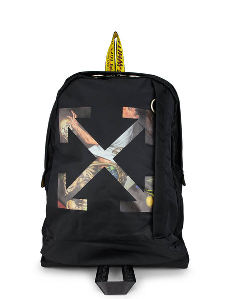 Off-White Men's Black Pascal Arrow Easy Backpack OMNB019F20FAB0021030