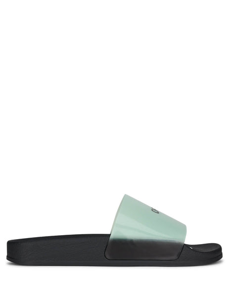 Off-White Women's Black and Light Blue Pool Sliders OWIA208R20H640683100