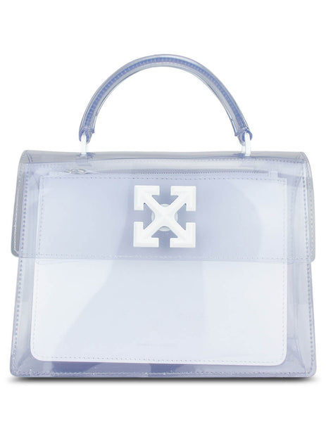 Women's Transparent Off-White PVC Jitney 2.8 Bag OWNA090E20PLA0017900