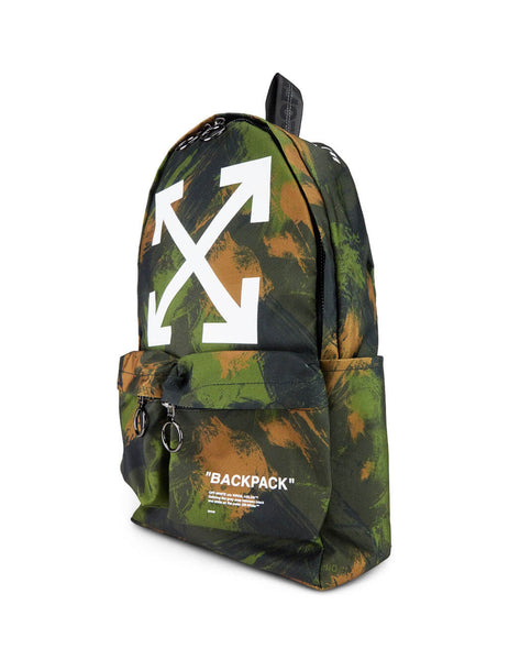 Off-White Men's Giulio Fashion Green Quote Backpack OMNB003E195210579901