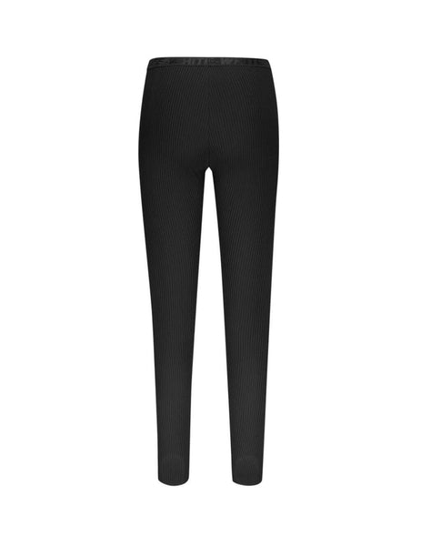 Off-White Women's Giulio Fashion Black Ribbed Leggings OWCD009E19E690771000