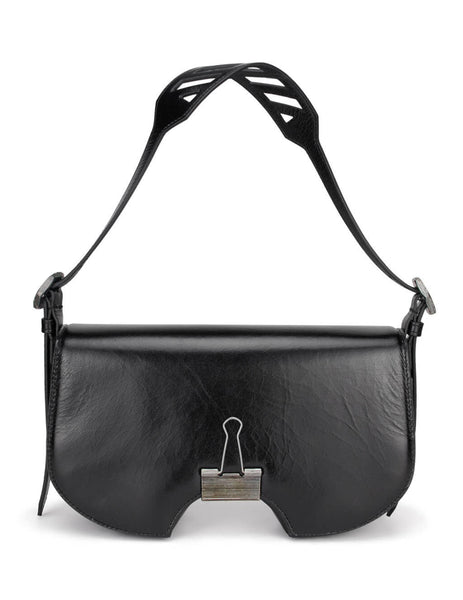 Women's Black Off-White Swiss Flap Bag OWNA141E20LEA0011000
