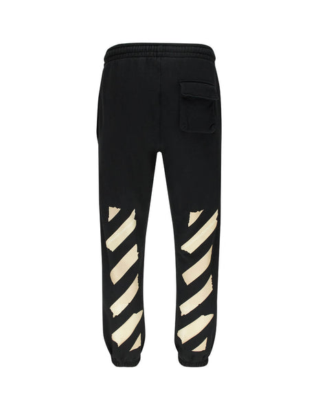 Off-White Men's Black Tape Arrows Sweatpants OMCH022R20E300021048