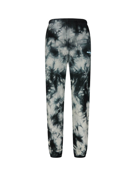 Off-White Men's Giulio Fashion Black Tie Dye Slim Sweatpants OMCH027S20E300204800