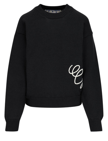 Two-Tone Embroidered Jumper