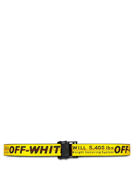 Off-White Men's Giulio Fashion Yellow Industrial Belt OMRB012E196470026000