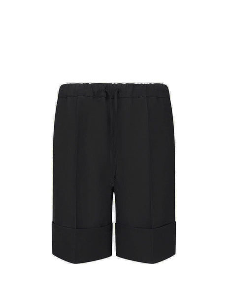 Men's Black Opening Ceremony Big Cuff Shorts YMCB001F20FAB0021000