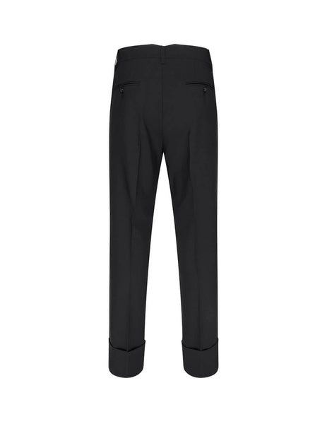 Men's Black Opening Ceremony Big Cuff Tailored Trousers YMCA004F20FAB0011000