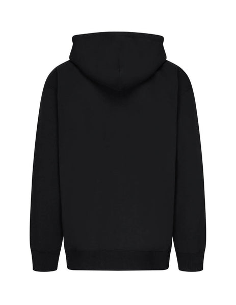 Men's Opening Ceremony Embroidered Hoodie in Black. YMBB001F20FLE0071025