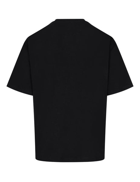 Men's Opening Ceremony Embroidered T-Shirt in Black. YMAA001F20JER0061025