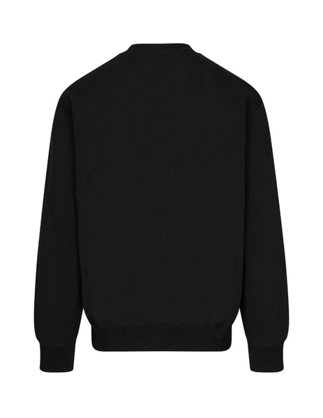Men's Opening Ceremony Embroidered Sweatshirt in Black. YMBA003F20FLE0011025