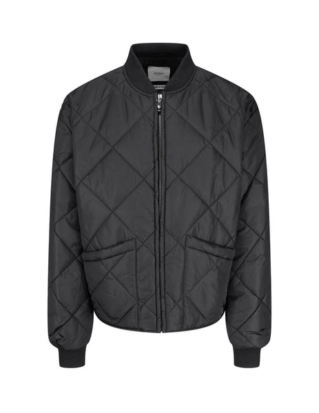 Men's Black Opening Ceremony Quilted Bomber Jacket YMED002F20FAB0021000