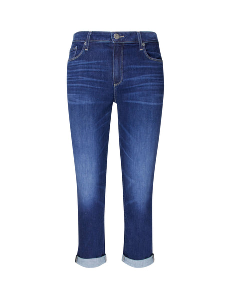 PAIGE Brigitte Skinny Cropped High-Rise Jeans Enchant Blue 35059845250 Women's Giulio Fashion