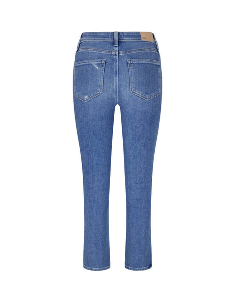 Women's PAIGE Cindy Outseam Jeans in Seaspray Blue (Distressed) - 6194E77-1629
