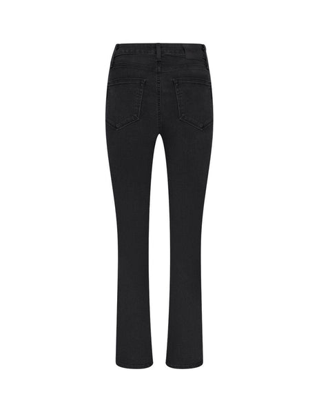 womens paige sarah slim jeans in black willow 5673F60-6497