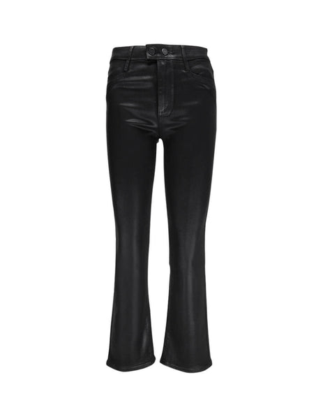 PAIGE Women's Black Claudine Waxed Jeans 5634901-3364