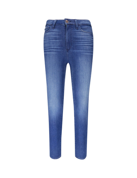 PAIGE Women's Giulio Fashion Blue Margot Crop Jeans 2940D846391