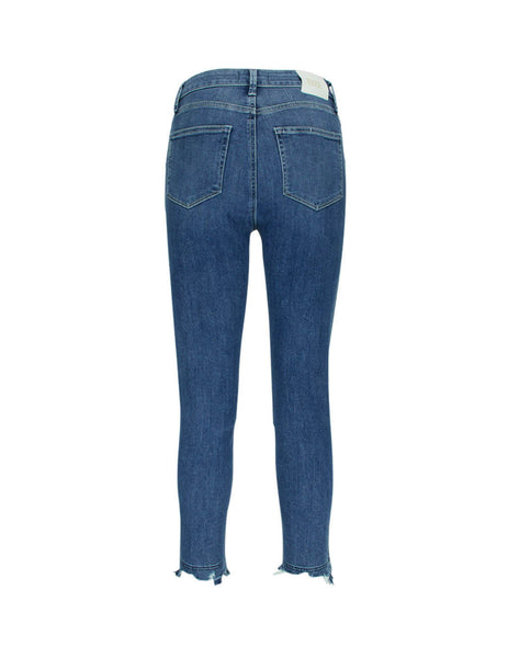 PAIGE Women's Blue Margot Cropped Jeans 5670f46-7477