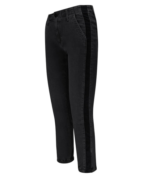 PAIGE Women's Faded Black Mayslie Jogger Jeans 6210901-1958