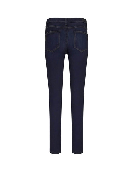PAIGE Women's Giulio Fashion Dark Blue Skyline Skinny Mid-Rise Jeans 02485212120