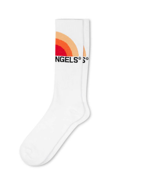 Palm Angels Men's White Big Sunset Socks PMRA001S203950360188