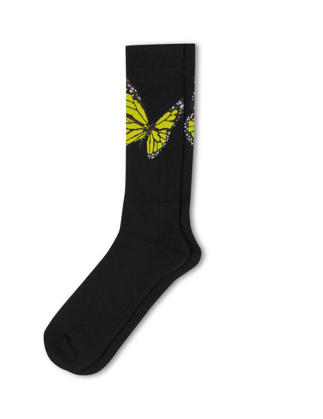 Palm Angels Men's Black Butterfly Socks PMRA001S203950221088