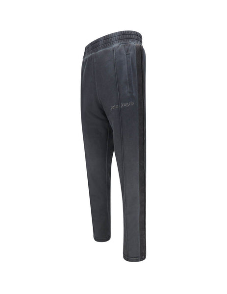 Palm Angels Men's Black Garment Dyed Track Pants  PMCA084F20FAB0031010