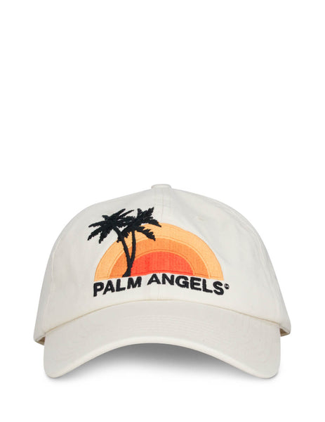 Palm Angels Men's Ecru Sunset Cap PMLB009S202240164788