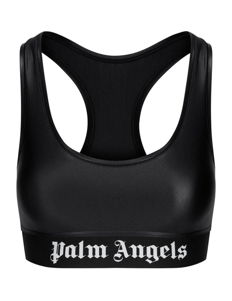 Women's Palm Angels Classic Logo Sports Bra in Black - PWFA009F20FAB0011001