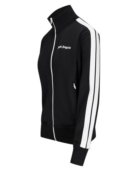 Women's Palm Angels Classic Track Jacket in Black/White - PWBD019S21FAB0051001