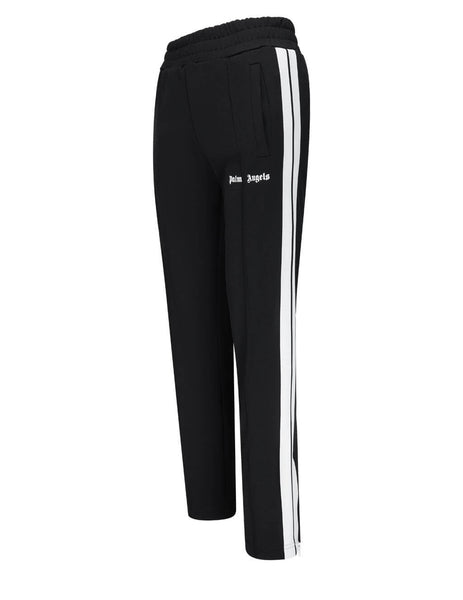 Women's Palm Angels Classic Track Pants in Black/White - PWCA035S21FAB0011001