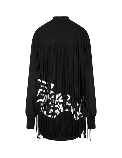 Women's Palm Angels Fringed Over Dress - PWDB088F20FAB0011001
